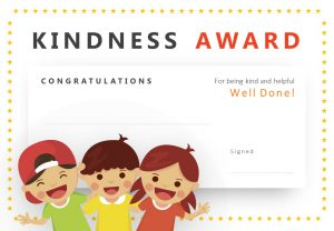 Kindness Award PowerPoint Certificate