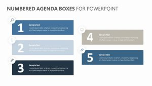 Numbered Agenda Boxes for PowerPoint