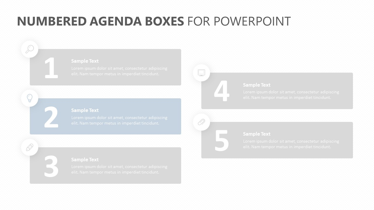 Numbered Agenda Boxes for PowerPoint (2)