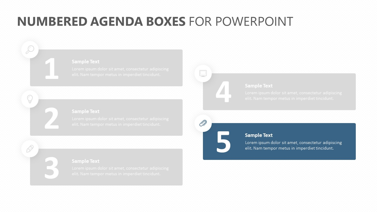 Numbered Agenda Boxes for PowerPoint (3)