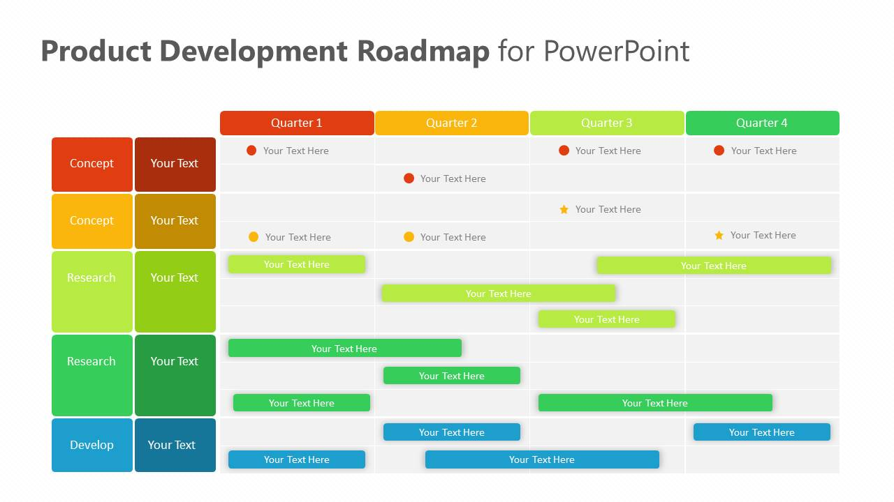 Product Development Roadmap for PowerPoint Slide1
