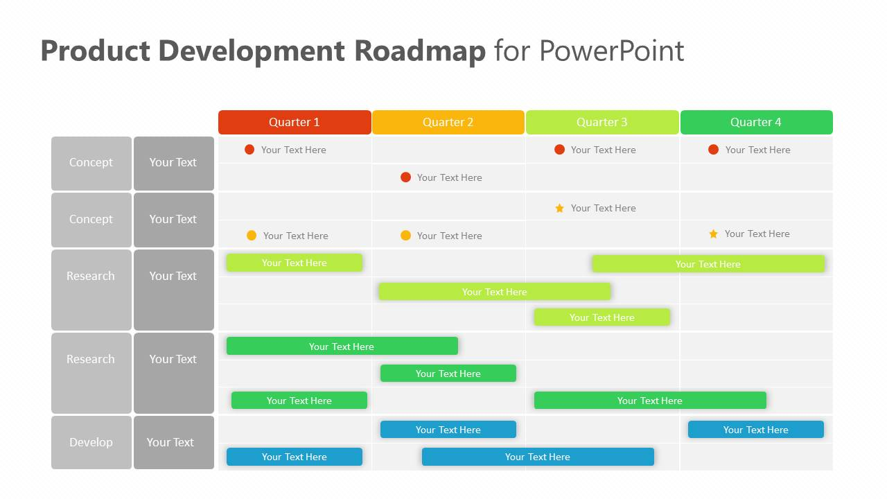 Product Development Roadmap for PowerPoint Slide2