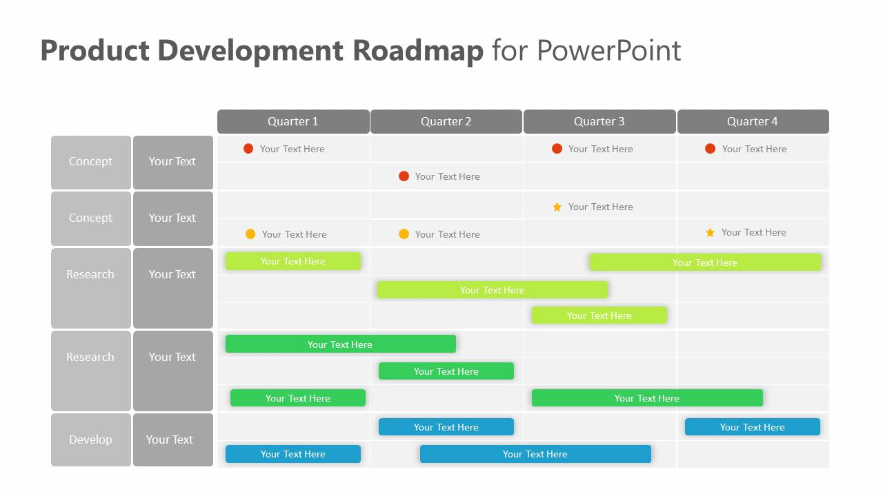 Product Development Roadmap for PowerPoint Slide3