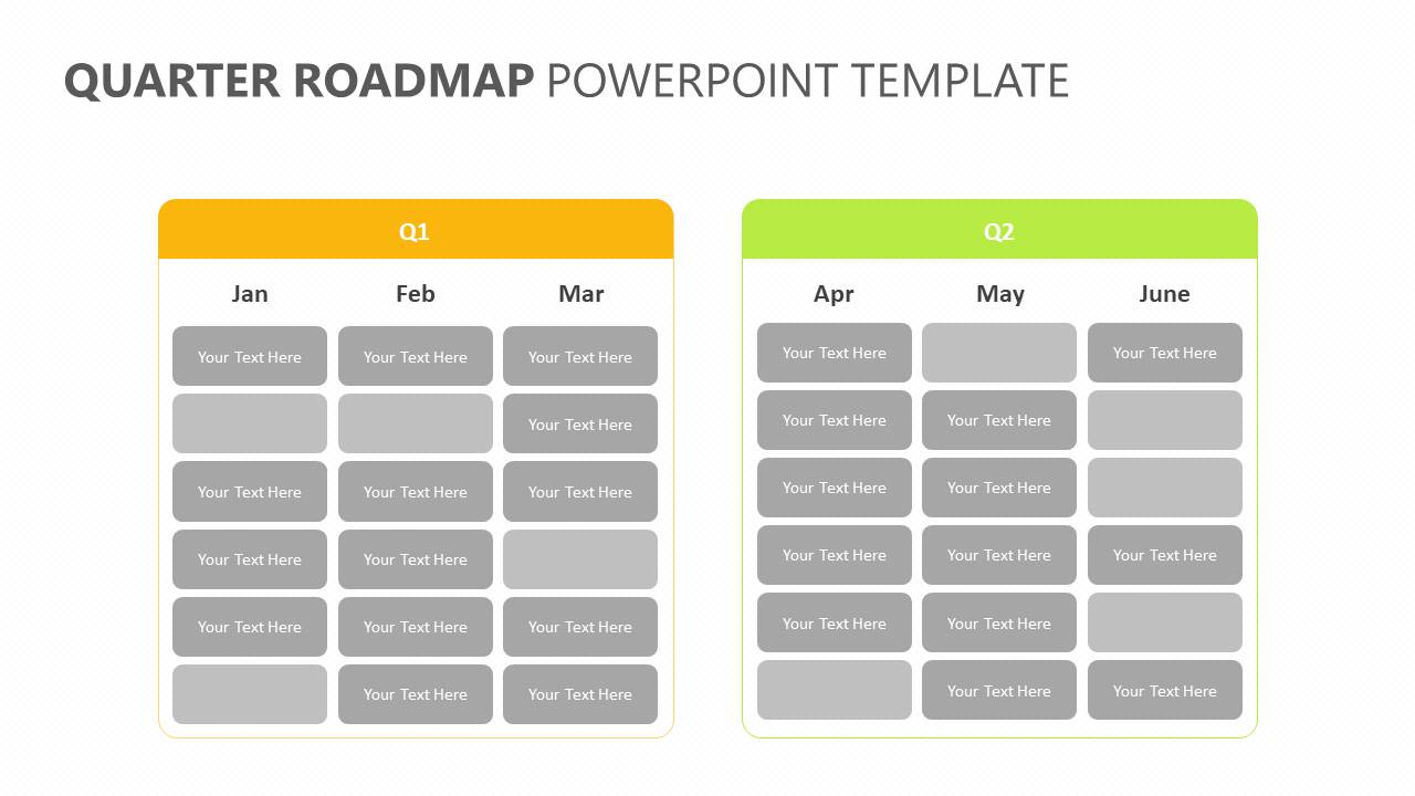 Quarter Roadmap PowerPoint Template Slide2