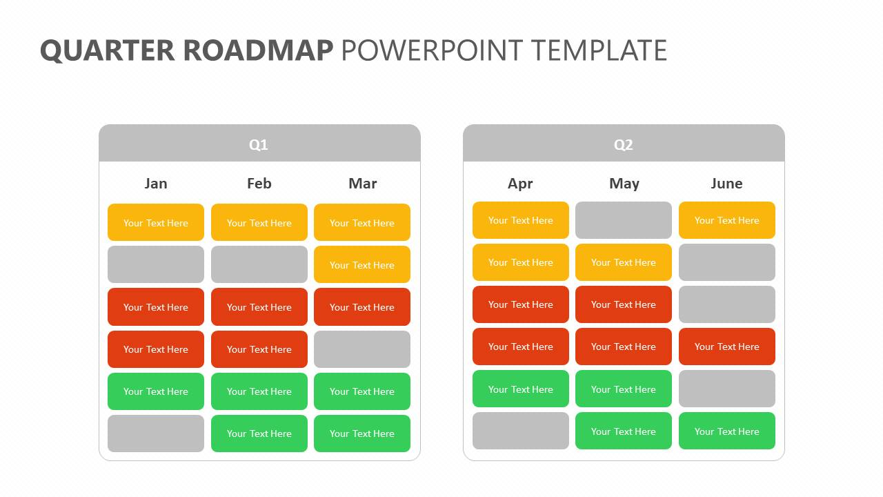 Quarter Roadmap PowerPoint Template Slide3