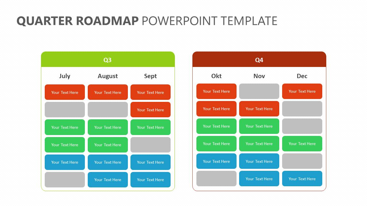Quarter Roadmap PowerPoint Template Slide4