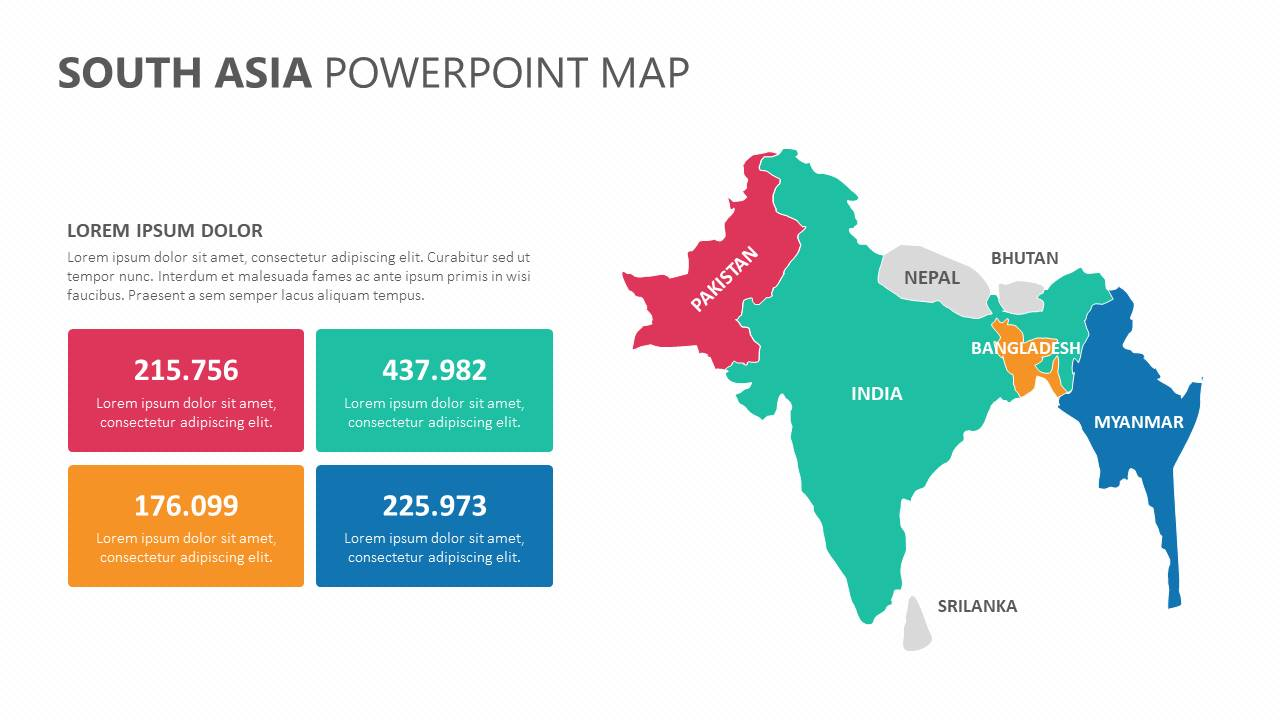 South Asia PowerPoint Map Slide1