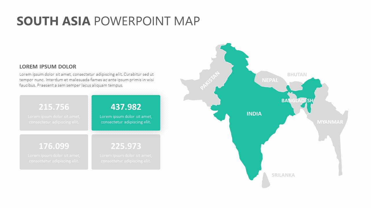 South Asia PowerPoint Map Slide3