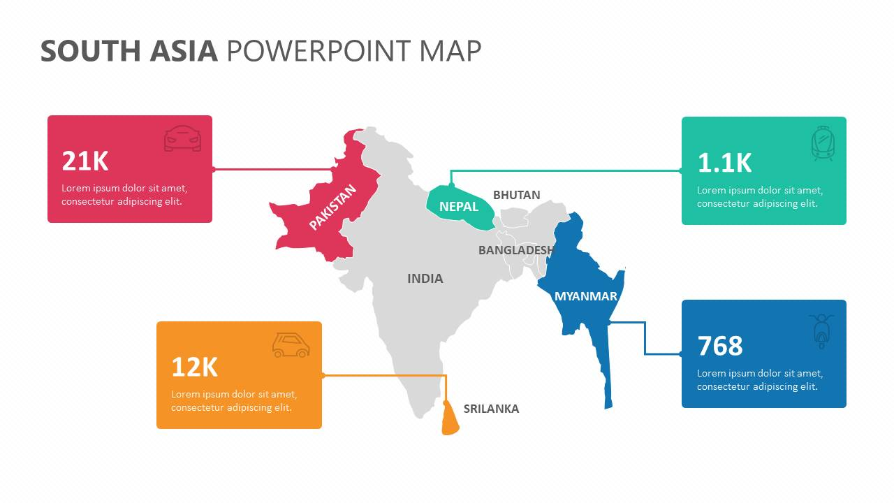 South Asia PowerPoint Map Slide4