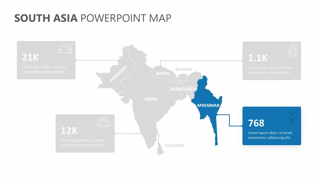 South Asia PowerPoint Map Slide5
