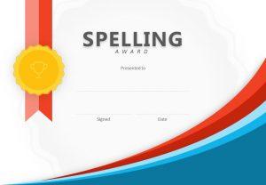 Spelling Award PowerPoint Certificate