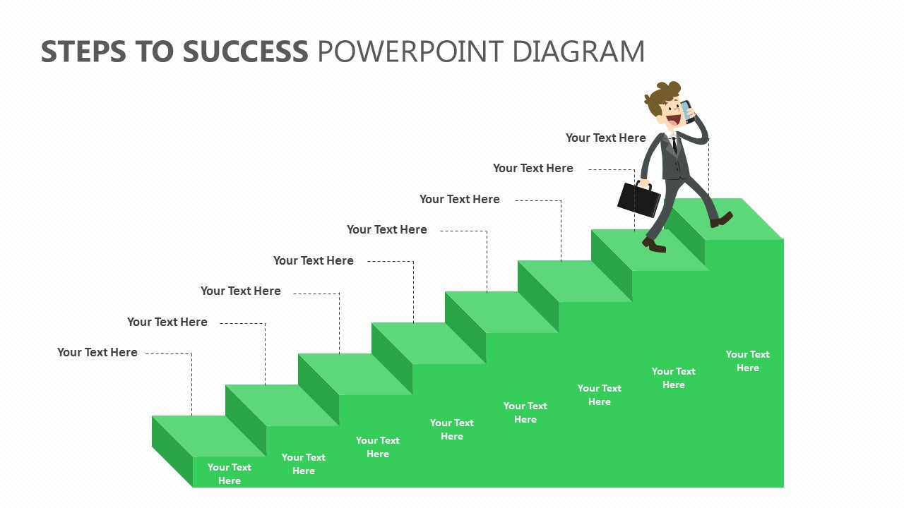 Steps to Success PowerPoint Diagram (2)