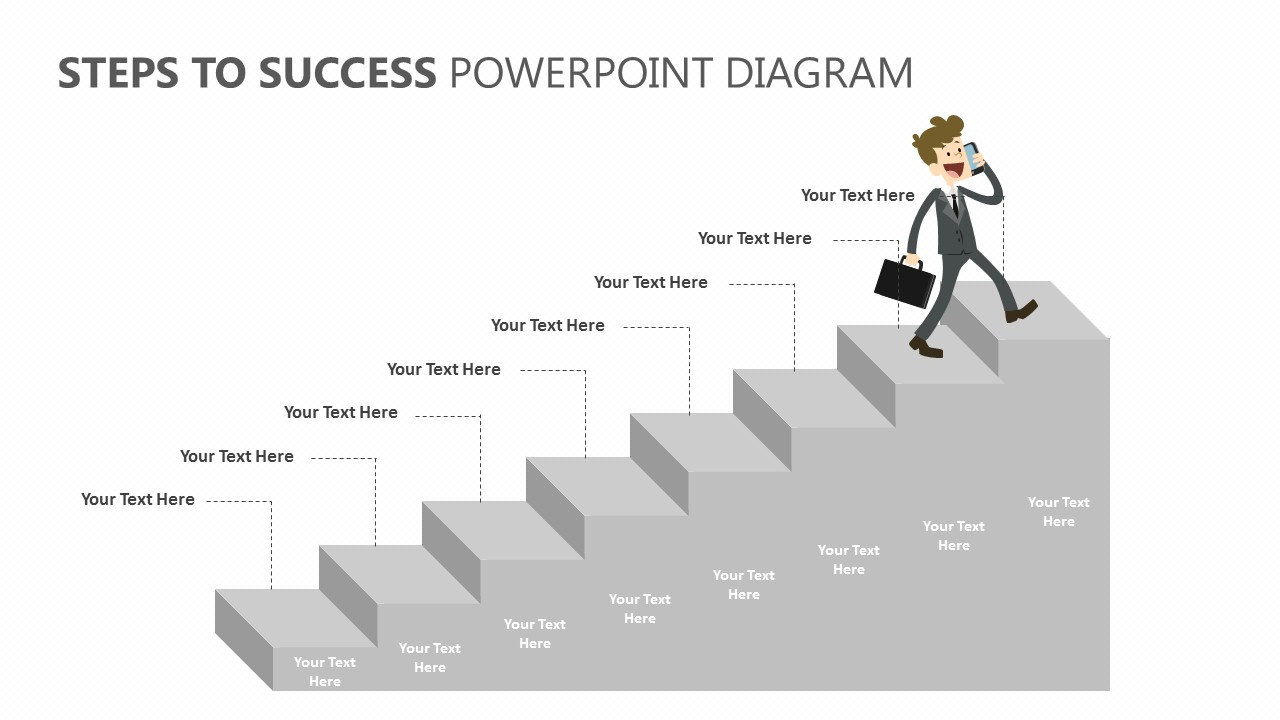 Steps to Success PowerPoint Diagram (3)