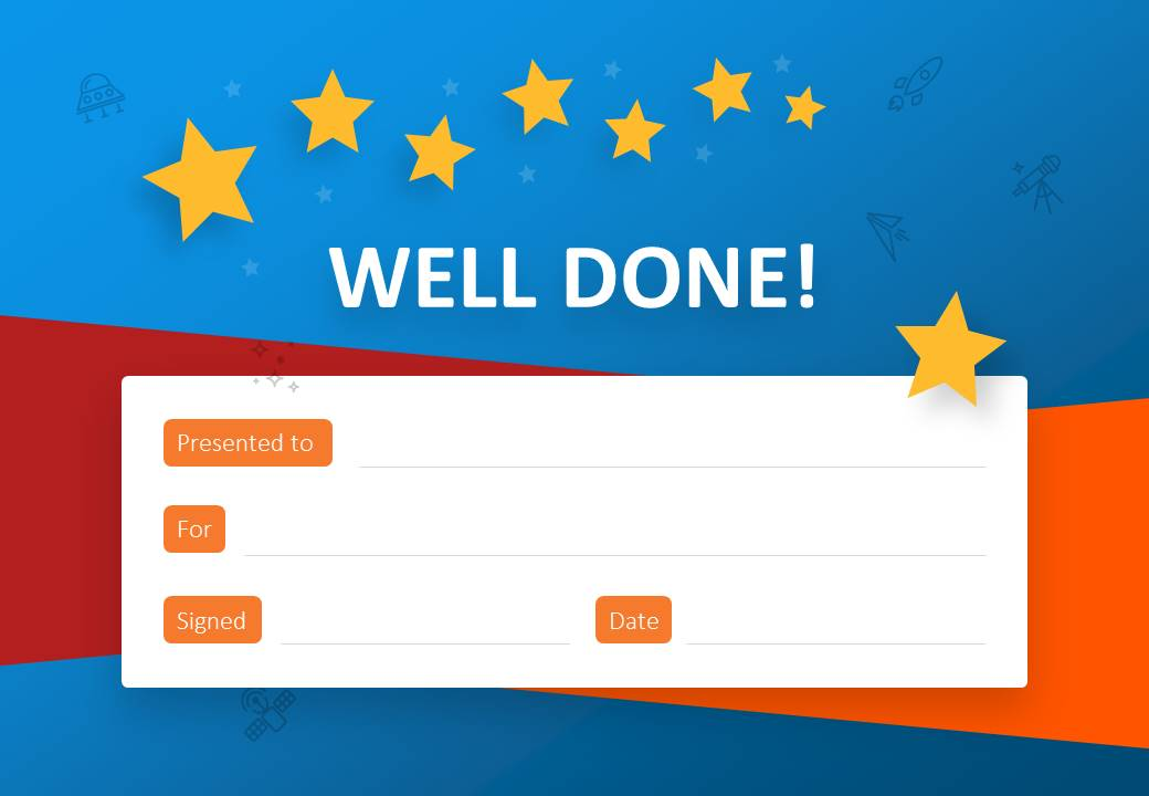 Well Done Certificate for PowerPoint Slide1