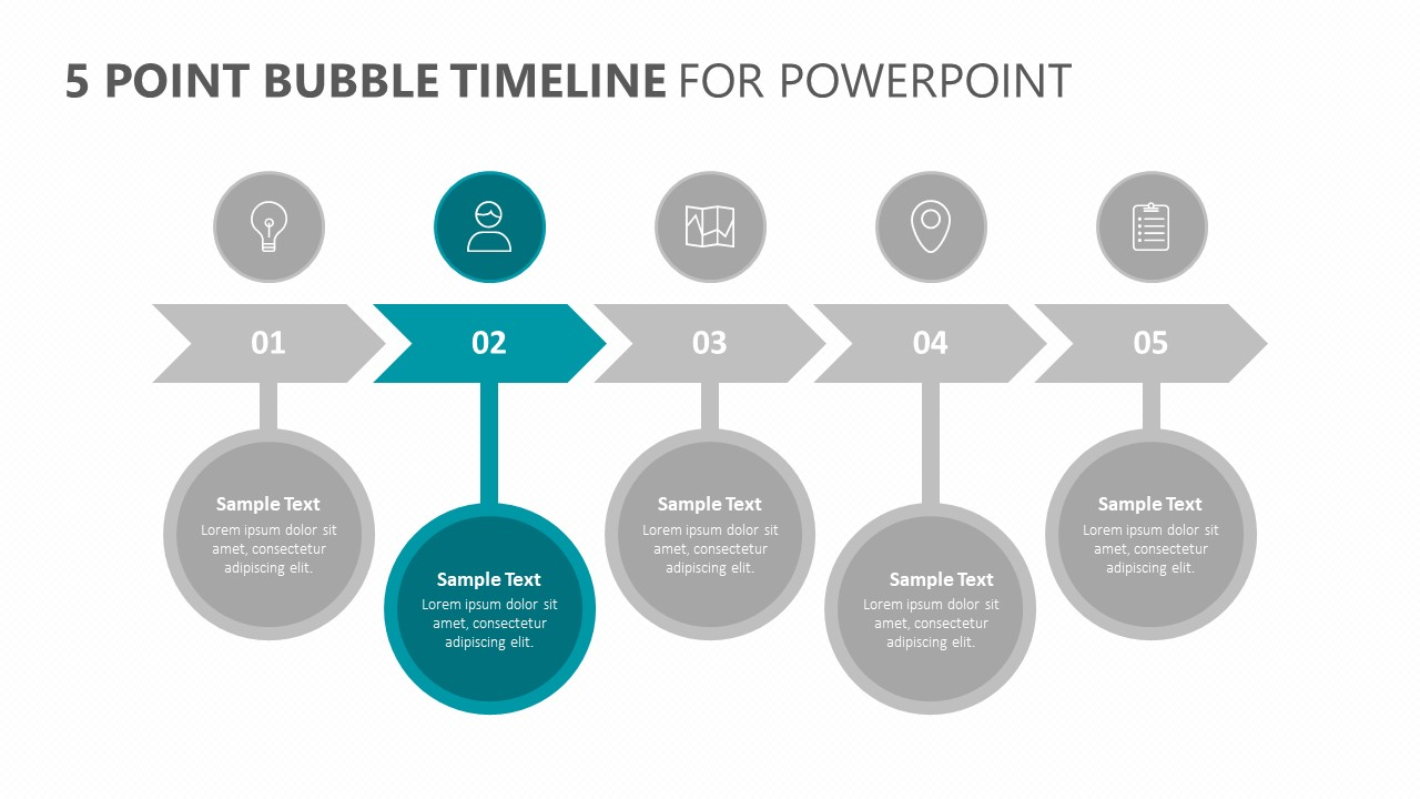 5 Point Bubble Timeline for PowerPoint (2)
