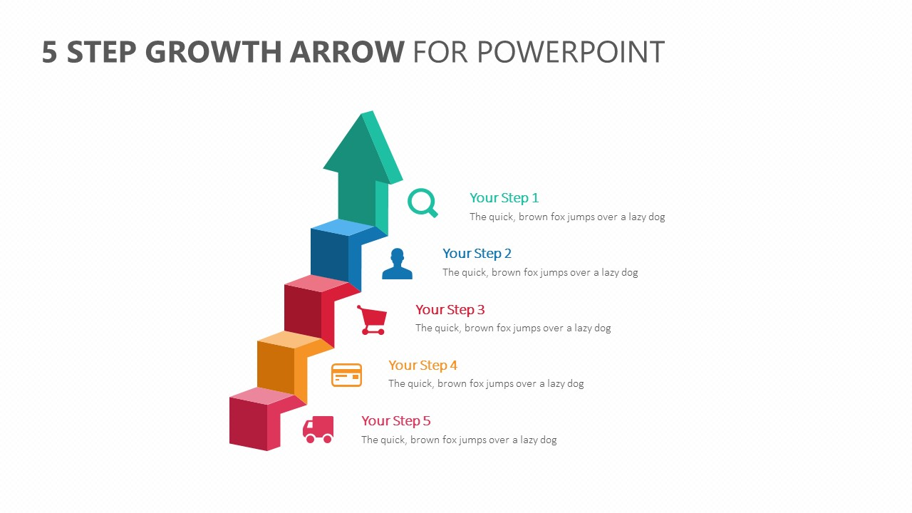 5 Step Growth Arrow for PowerPoint