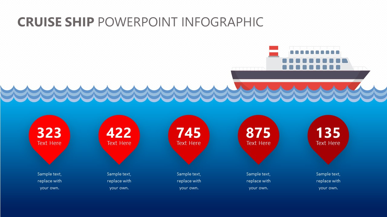 Cruise Ship PowerPoint Infographic