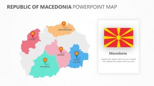 Republic of Macedonia PowerPoint Map