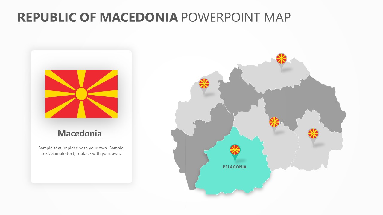 Republic of Macedonia PowerPoint Map Slide 2