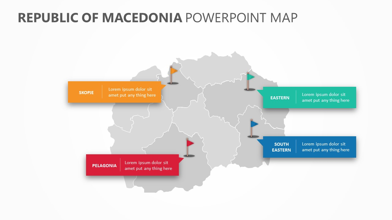 Republic of Macedonia PowerPoint Map Slide 3