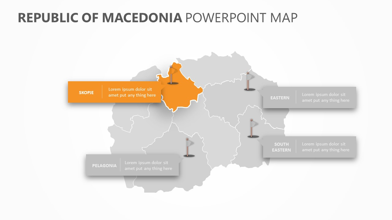 Republic of Macedonia PowerPoint Map Slide 4