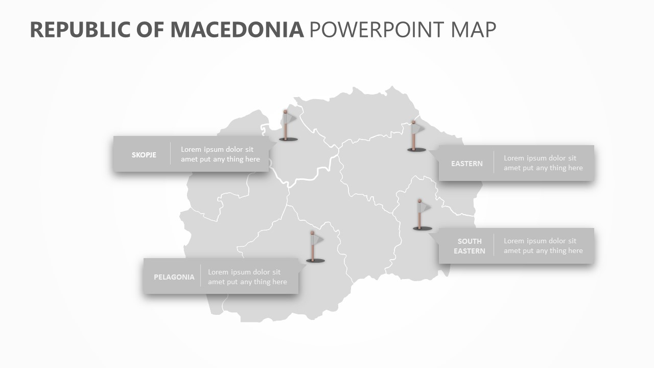 Republic of Macedonia PowerPoint Map Slide 5