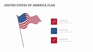 United States of America Flag for PowerPoint
