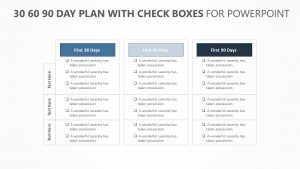 30 60 90 Day Plan with Check boxes