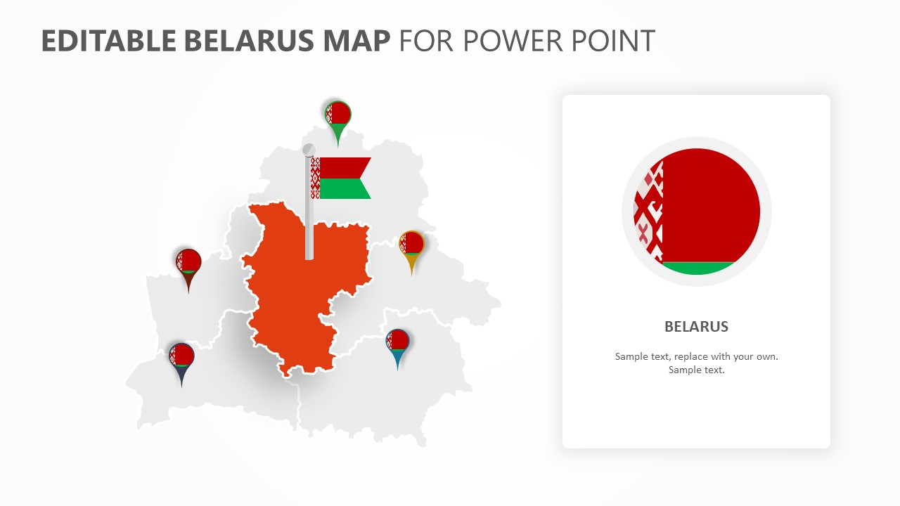 Belarus PowerPoint Map (2)