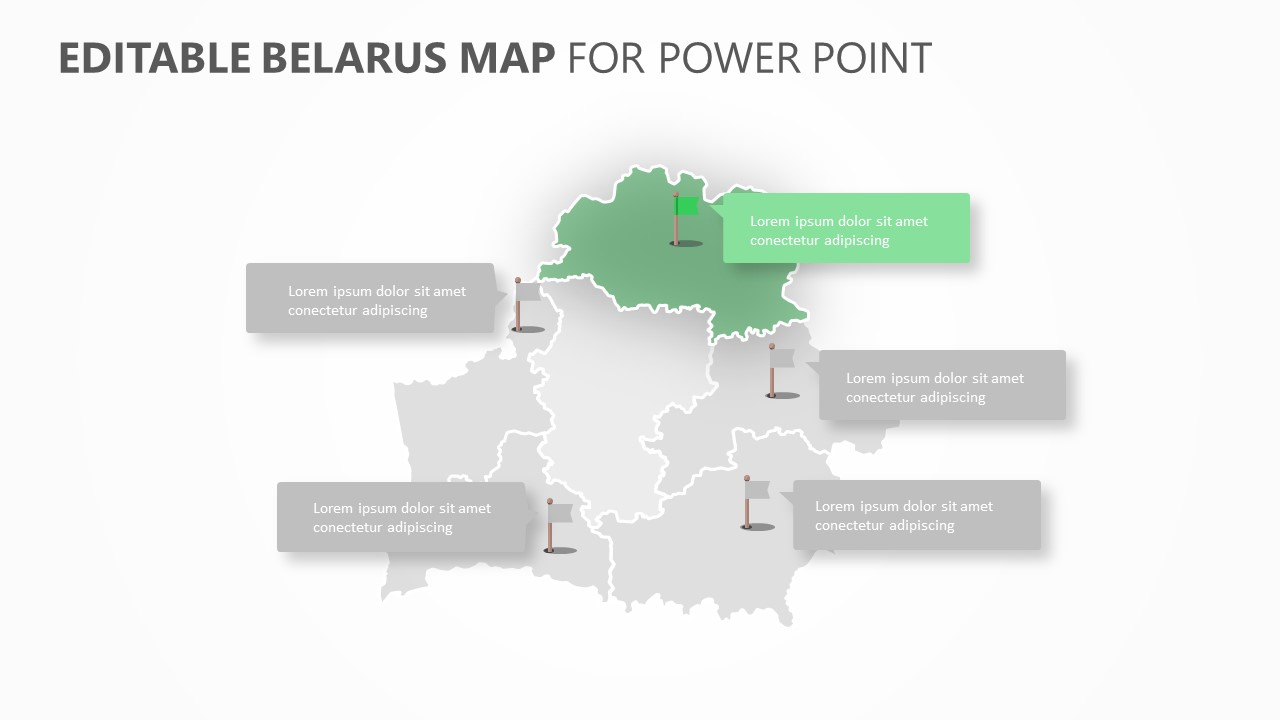 Belarus PowerPoint Map (4)