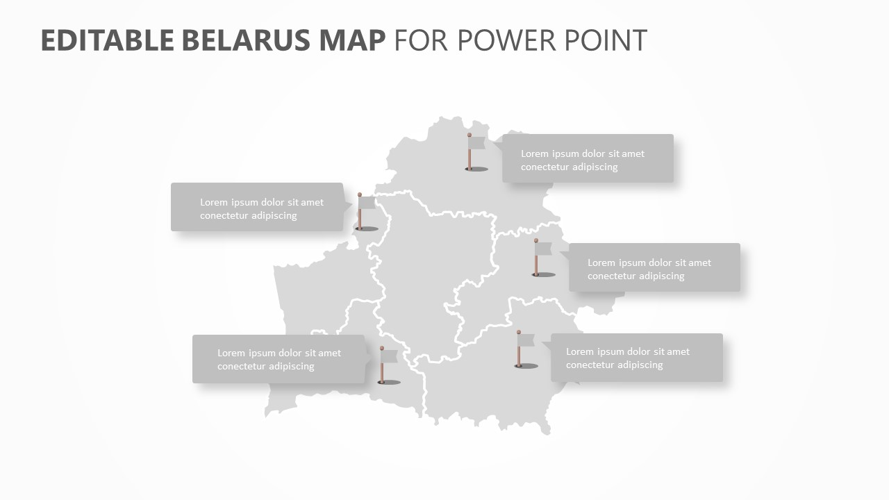 Belarus PowerPoint Map (5)