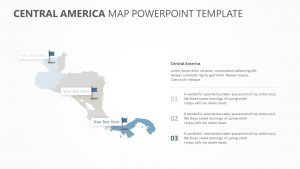 Central America Map PowerPoint Template