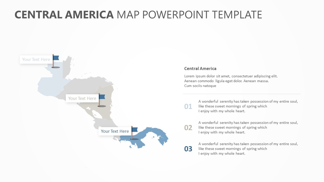 Central America Map PowerPoint Template (1)