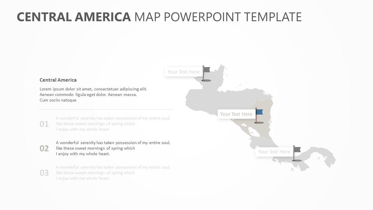 Central America Map PowerPoint Template (2)