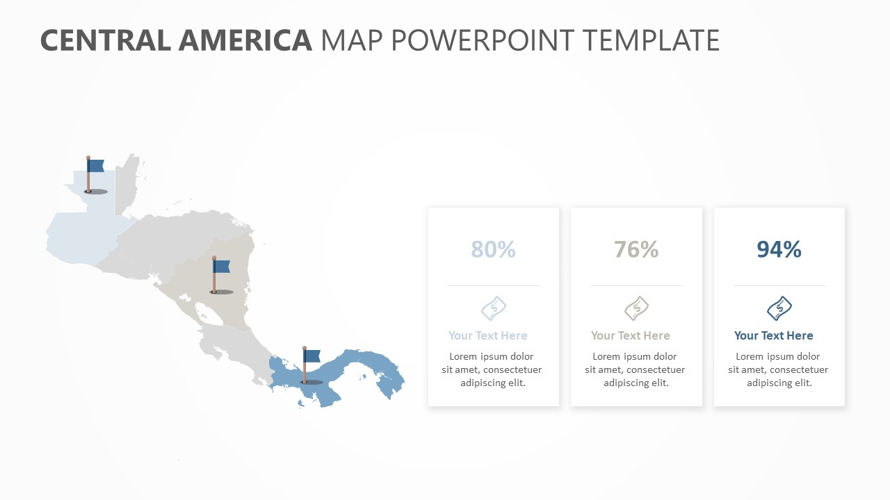 Central America Map PowerPoint Template (3)