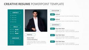 Creative Resume PowerPoint Template