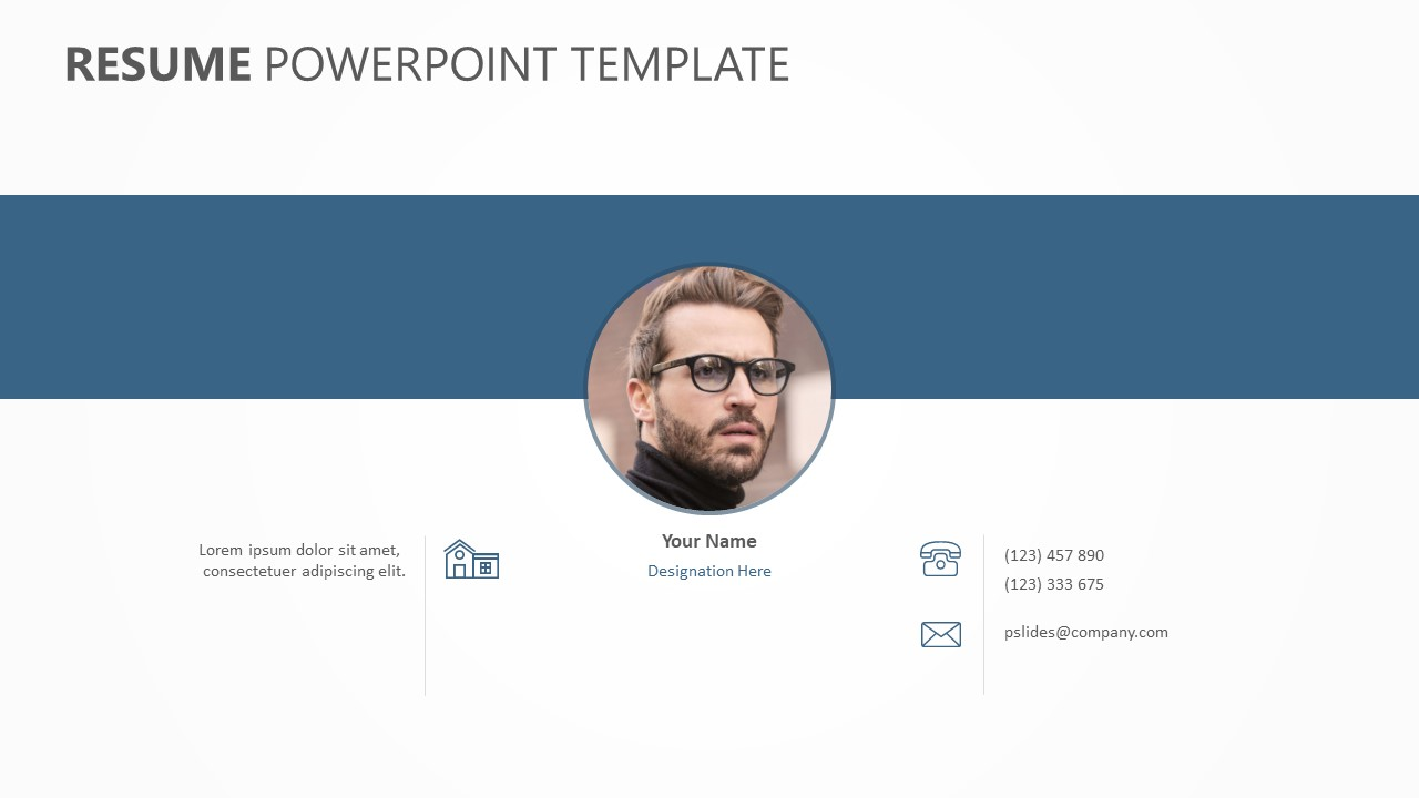 Resume Powerpoint Template Pslides