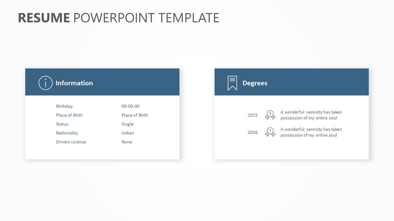 Resume PowerPoint Template (3)
