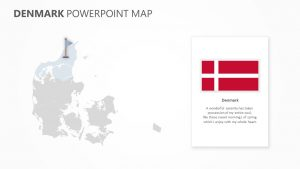 Denmark PowerPoint Map Slide1