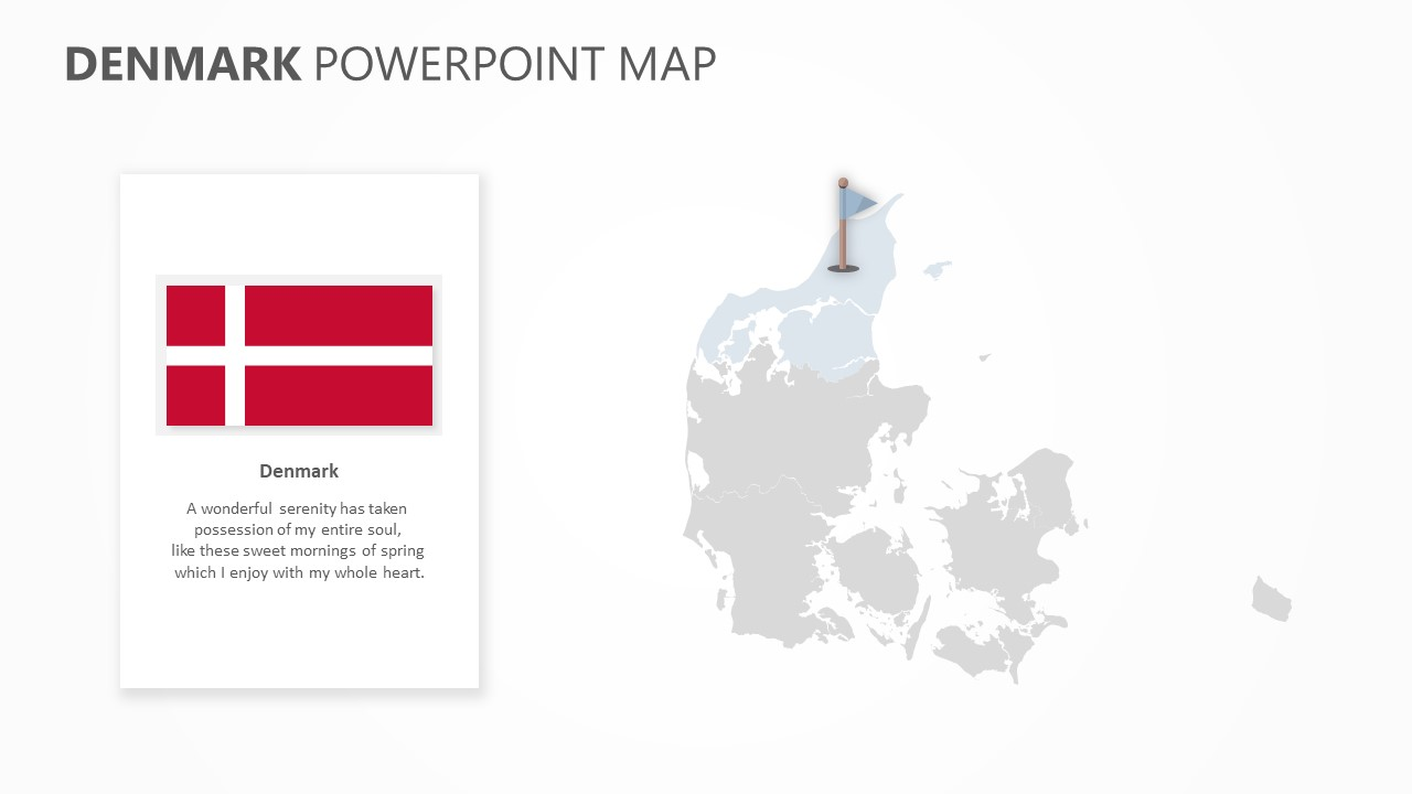 Denmark PowerPoint Map Slide2