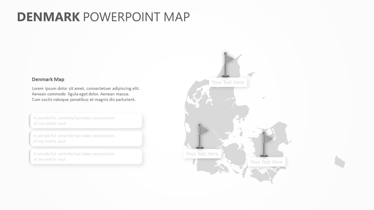 Denmark PowerPoint Map Slide5
