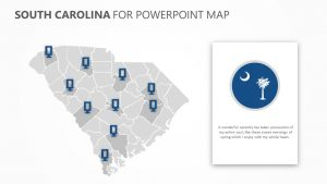 South Carolina PowerPoint Map