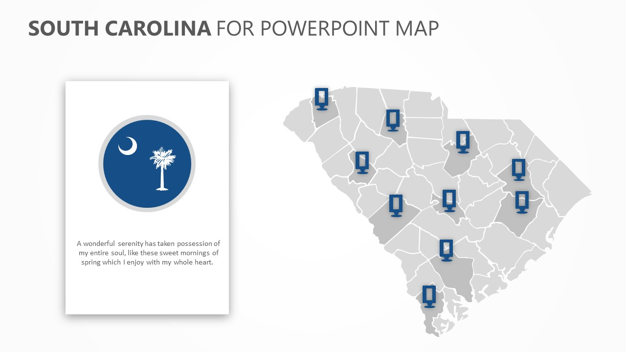 South Carolina PowerPoint Map (2)