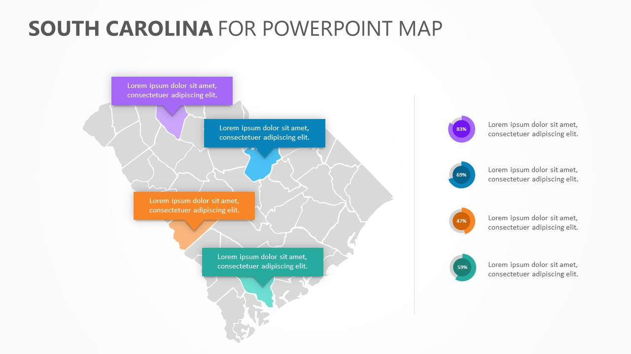 South Carolina PowerPoint Map (3)