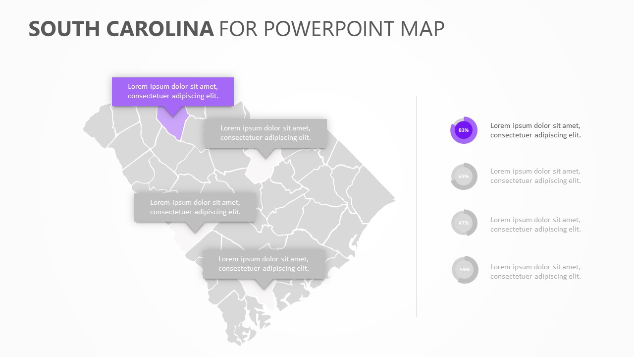South Carolina PowerPoint Map (4)