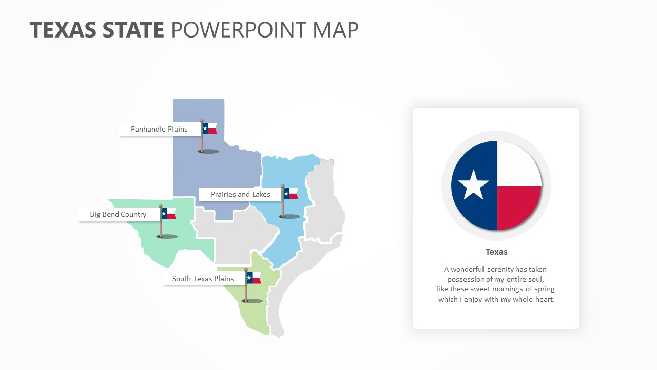 Texas State PowerPoint Map (2)