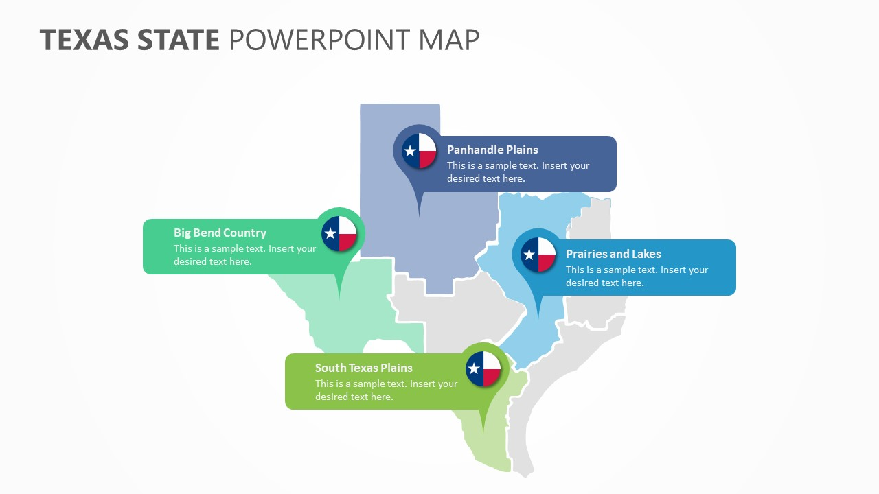 Texas State PowerPoint Map (3)