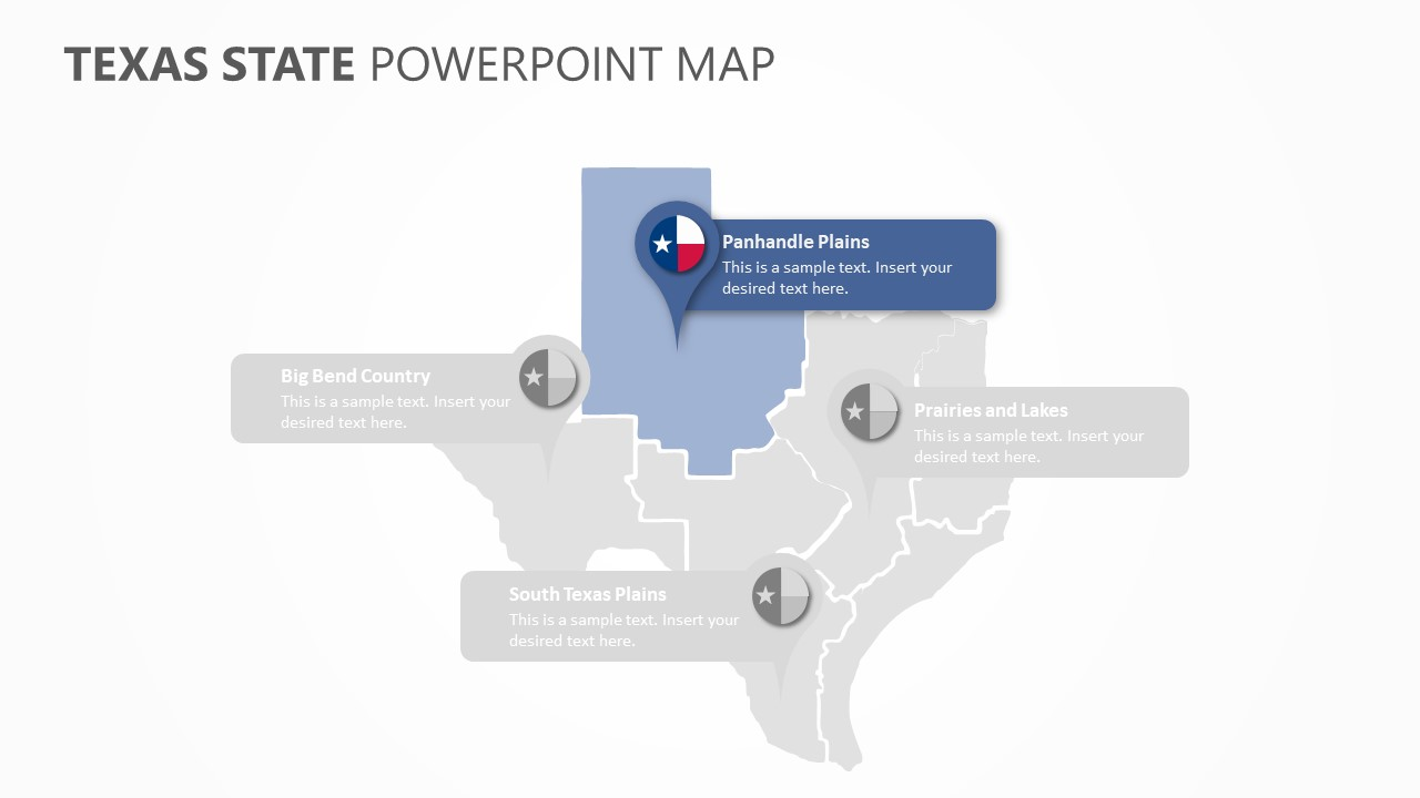 Texas State PowerPoint Map (4)