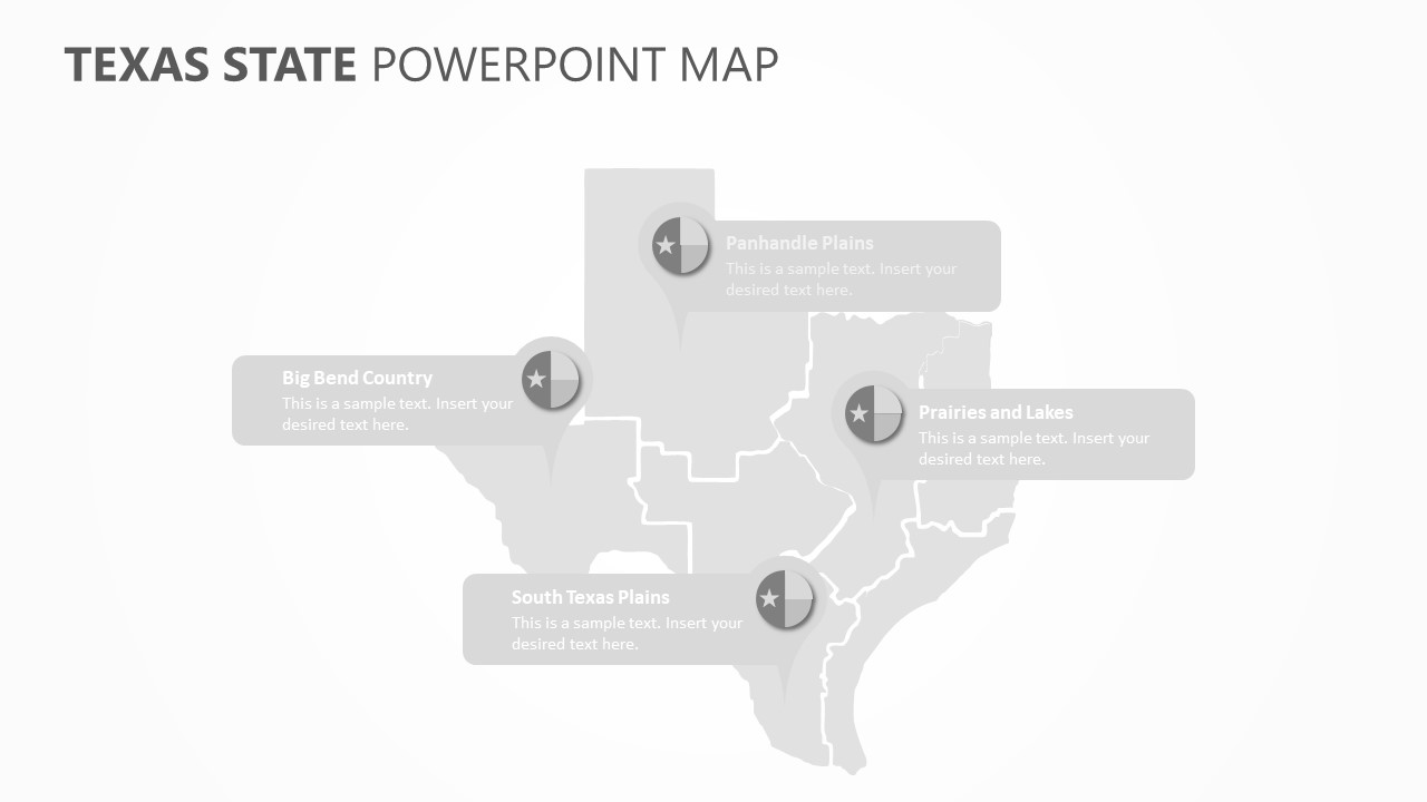 Texas State PowerPoint Map (5)