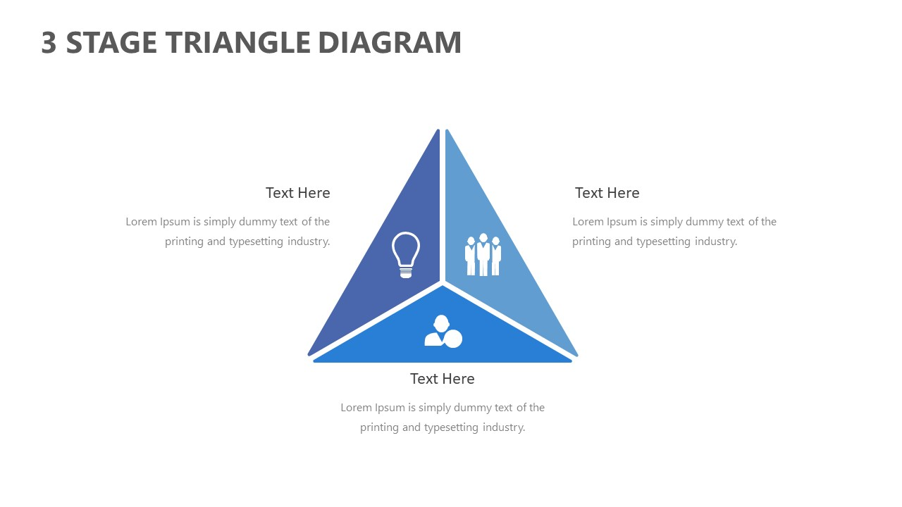 Free 3 Stage Triangle Powerpoint Diagram